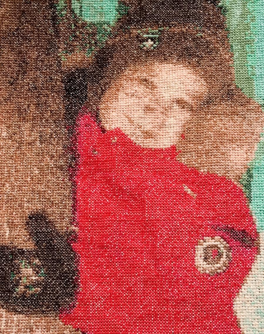 Komplette Ein Kind umarmt einen Baum Kreuzstich-Designs