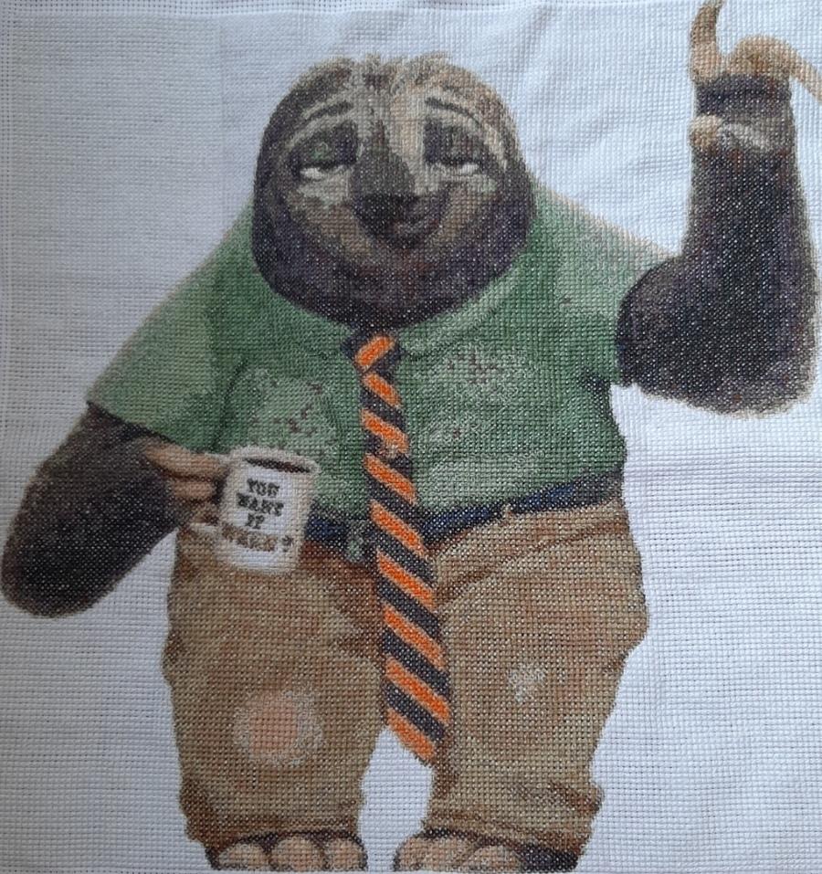 Complete Sloth Flash cross-stitching design