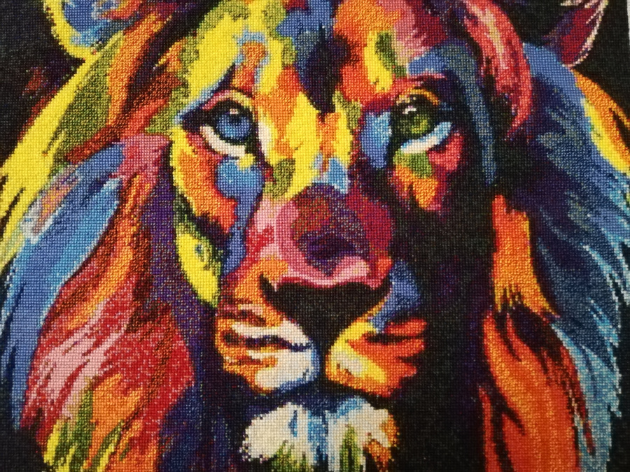 Pop art lion