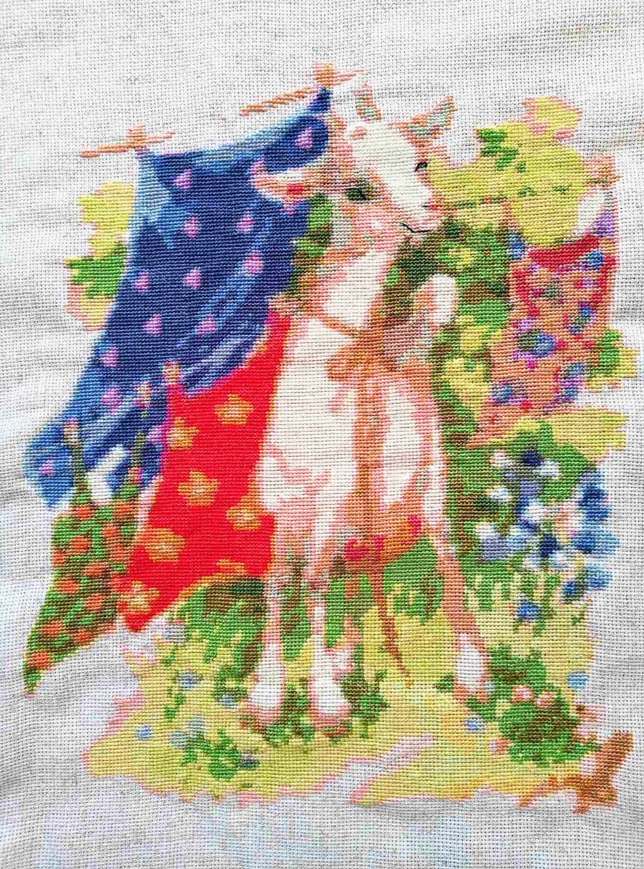 Cabra y mantelería