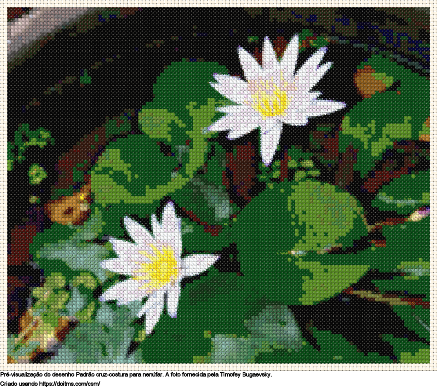 Desenhos Flores de ponto-cruz gratuitos