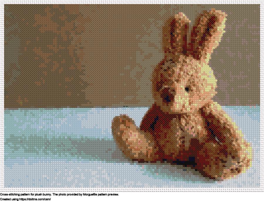Free Plush bunny cross-stitching design