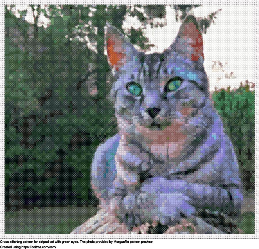 Free Cat cross-stitching design