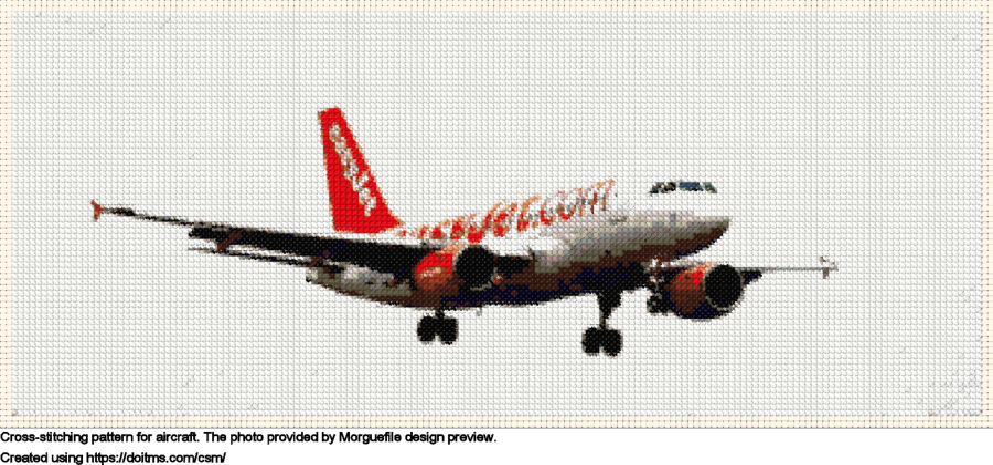 Free Aircraft cross-stitching design