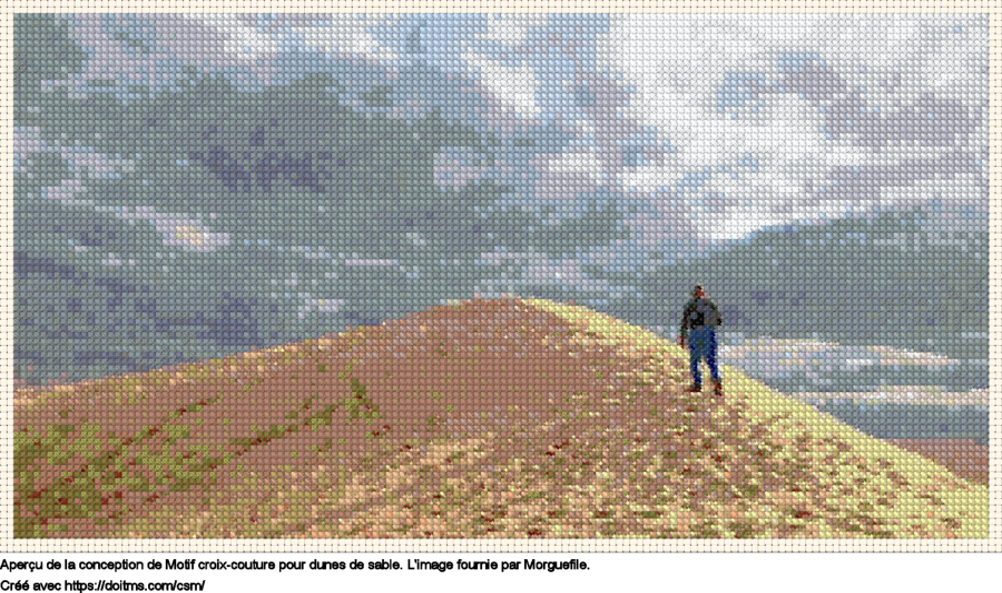 Motif de point de croix Dunes de sable gratuit