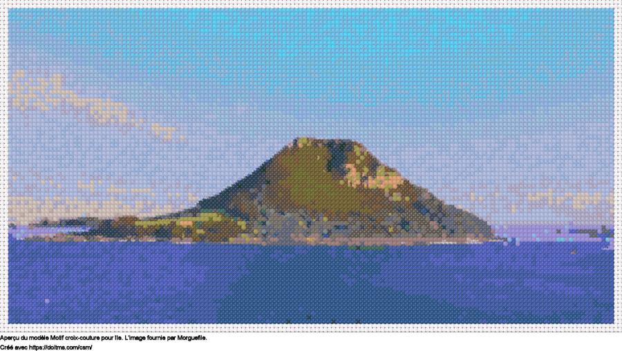 Motif de point de croix Île gratuit
