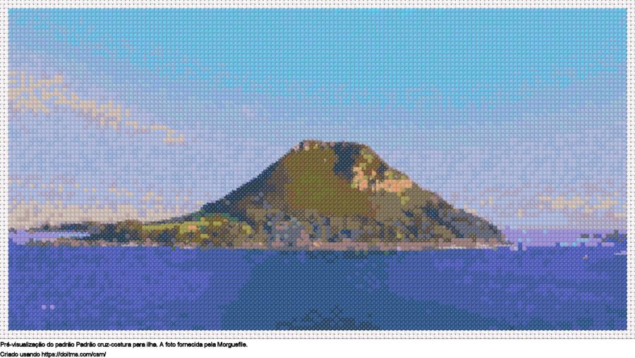 Desenhos ilha de ponto-cruz gratuitos