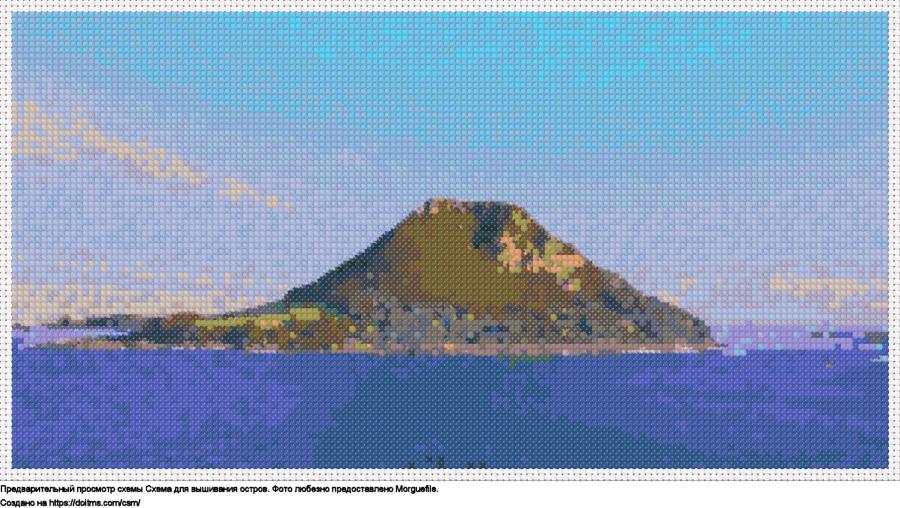 Бесплатная схема Остров для вышивания крестиком