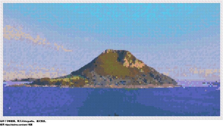 免费 岛 十字绣设计