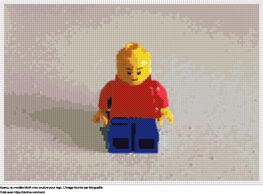 Motif de point de croix Lego gratuit