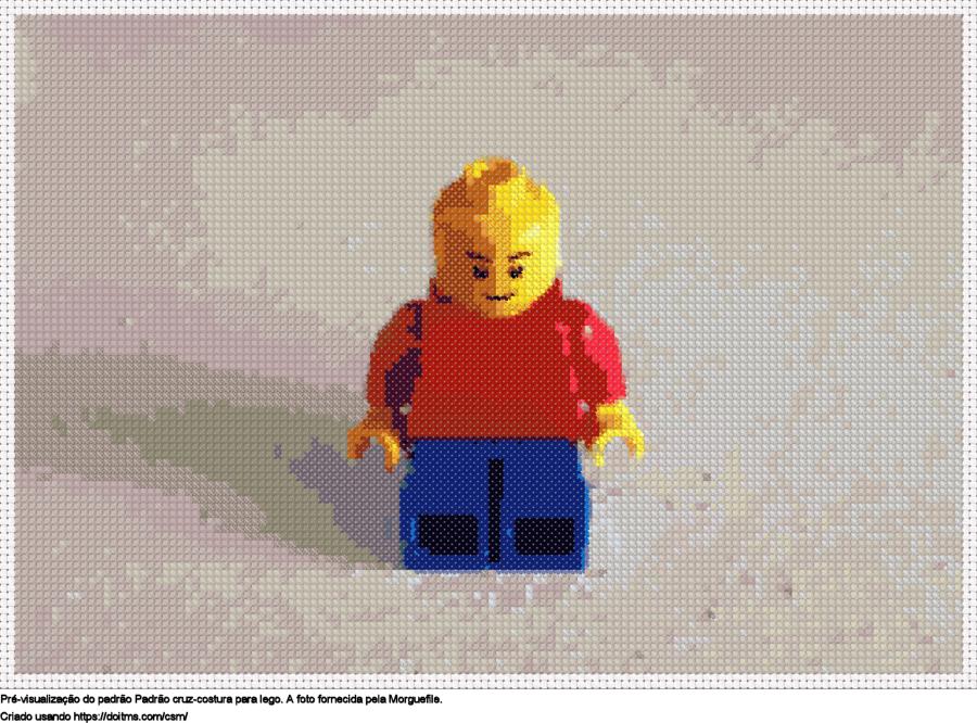 Desenhos Lego de ponto-cruz gratuitos
