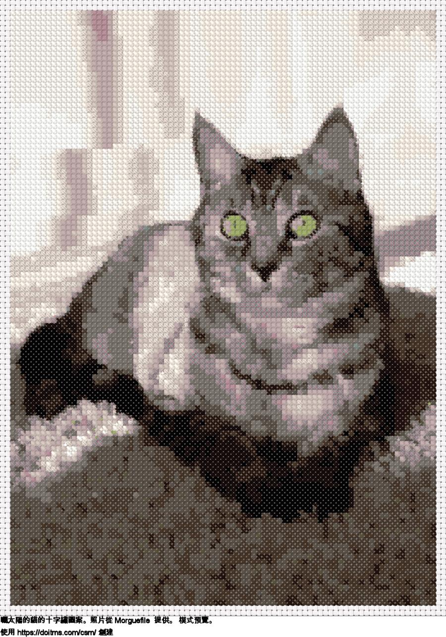 免費 貓 十字縫設計