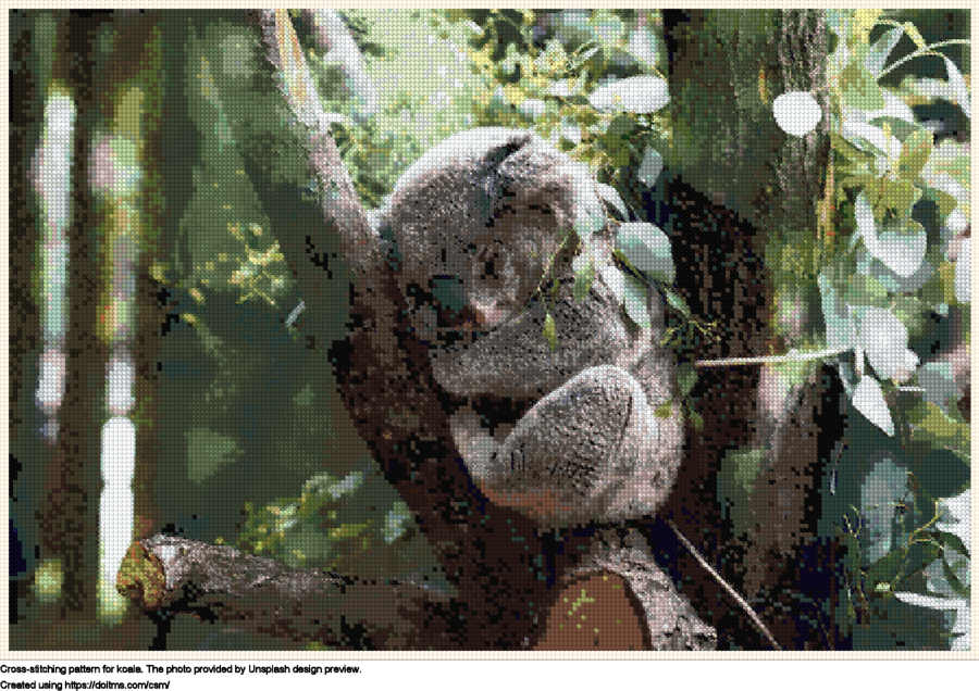 Free Koala cross-stitching design