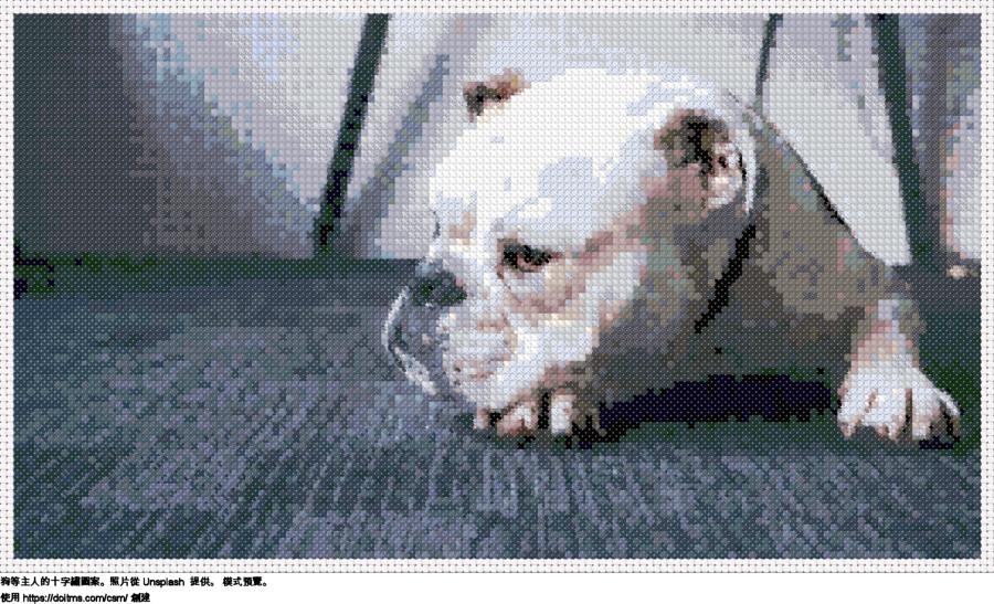 免費 鬥牛犬 十字縫設計
