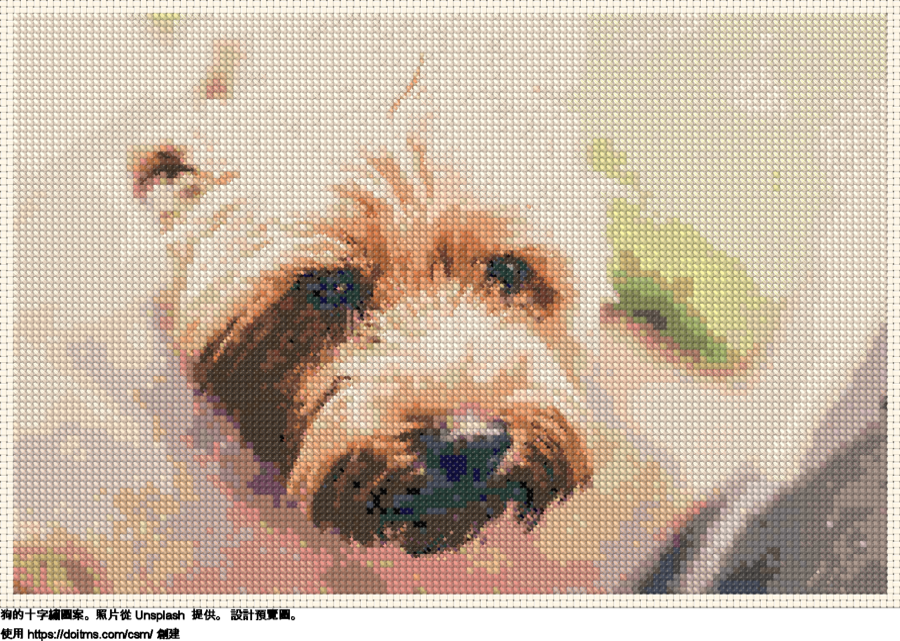 免費 狗 十字縫設計