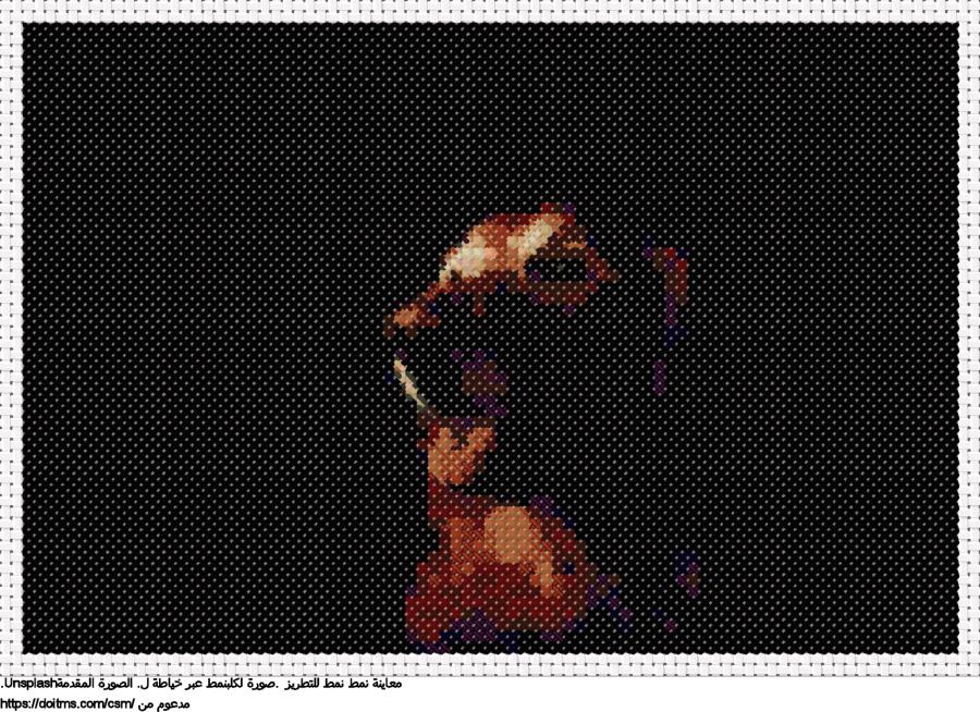 .صورة لكلبنمط عبر خياطة ل