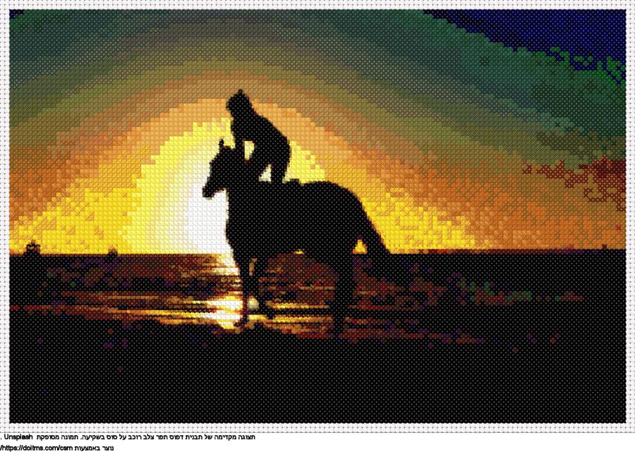 רוכב על סוס בשקיעה
