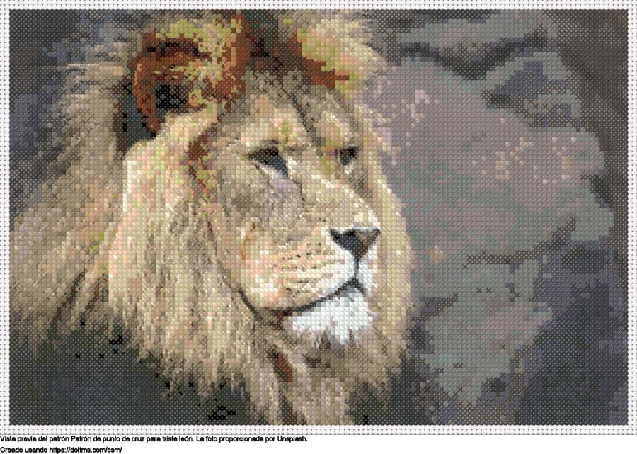 triste león