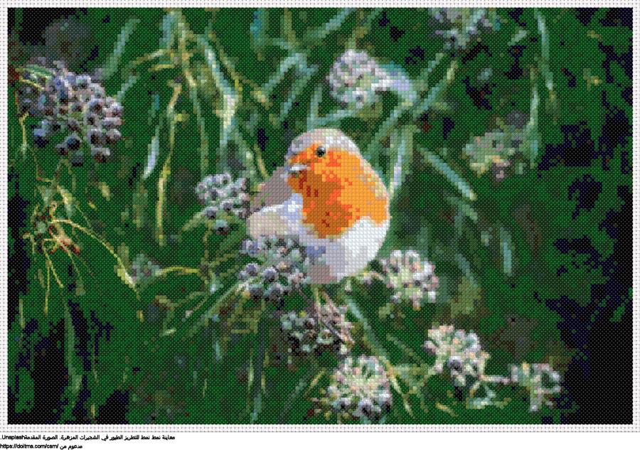 .طائر صغيرنمط عبر خياطة ل