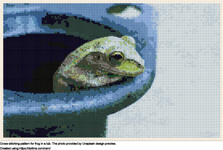 Frog in a tub