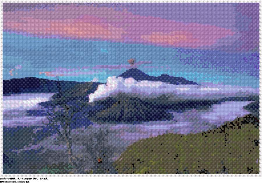 免費 火山 十字縫設計