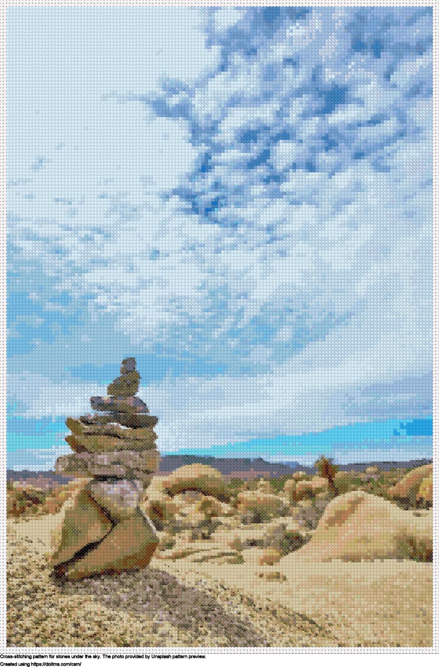 Stones under the sky