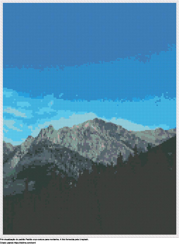 Desenhos Montanha de ponto-cruz gratuitos