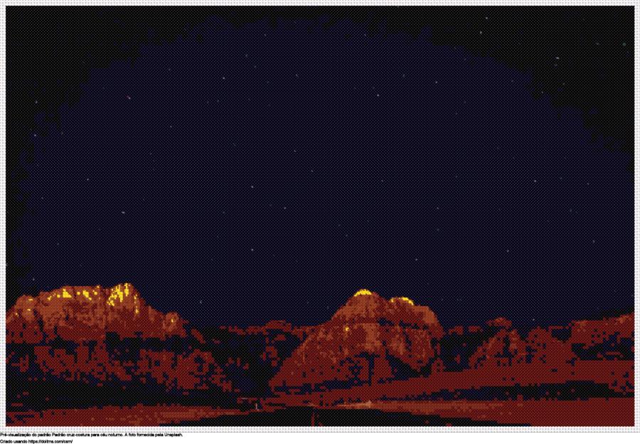 Desenhos Céu noturno de ponto-cruz gratuitos