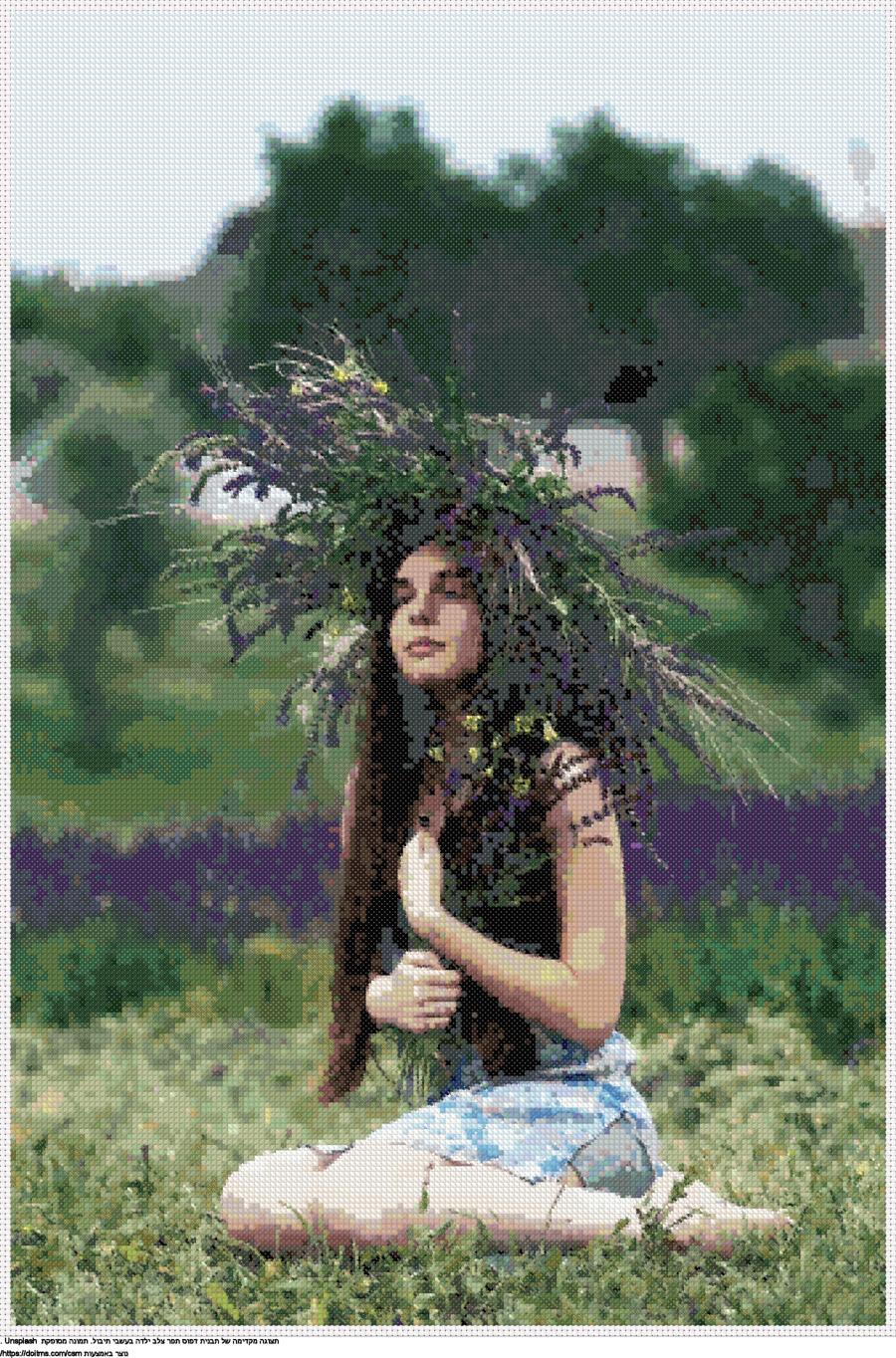 ילדה בעשבי תיבול
