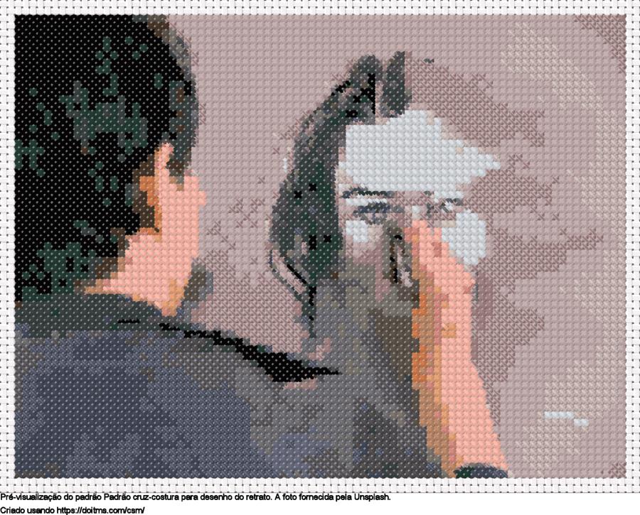 desenho do retrato