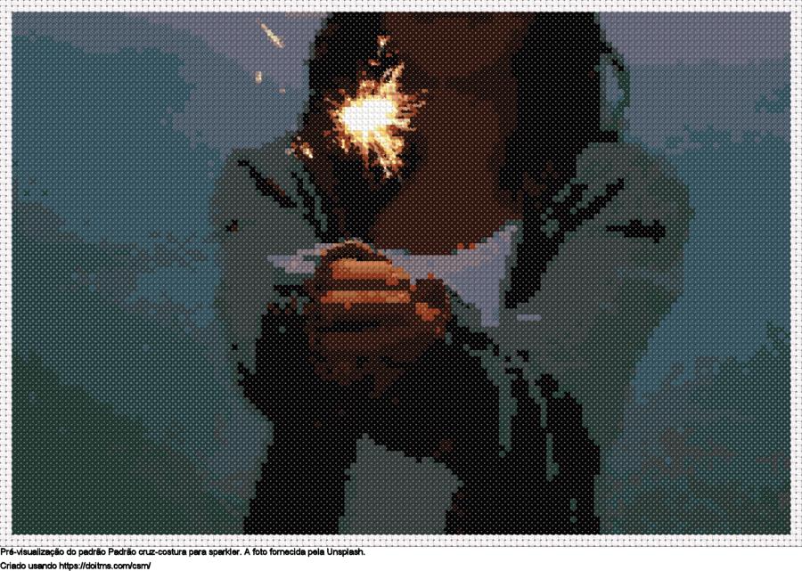 Desenhos sparkler de ponto-cruz gratuitos