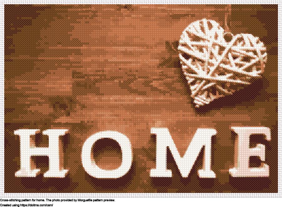 Free Home cross-stitching design