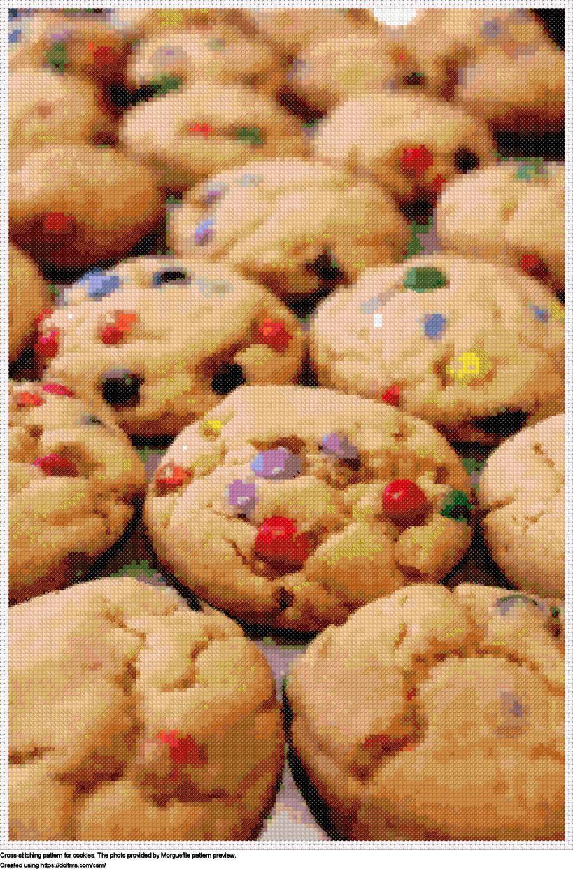 Free Cookies cross-stitching design
