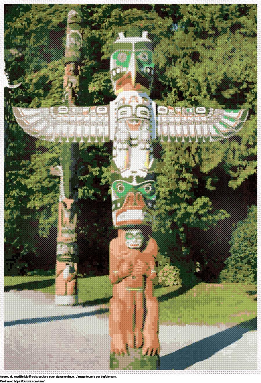 Motif de point de croix Canada gratuit