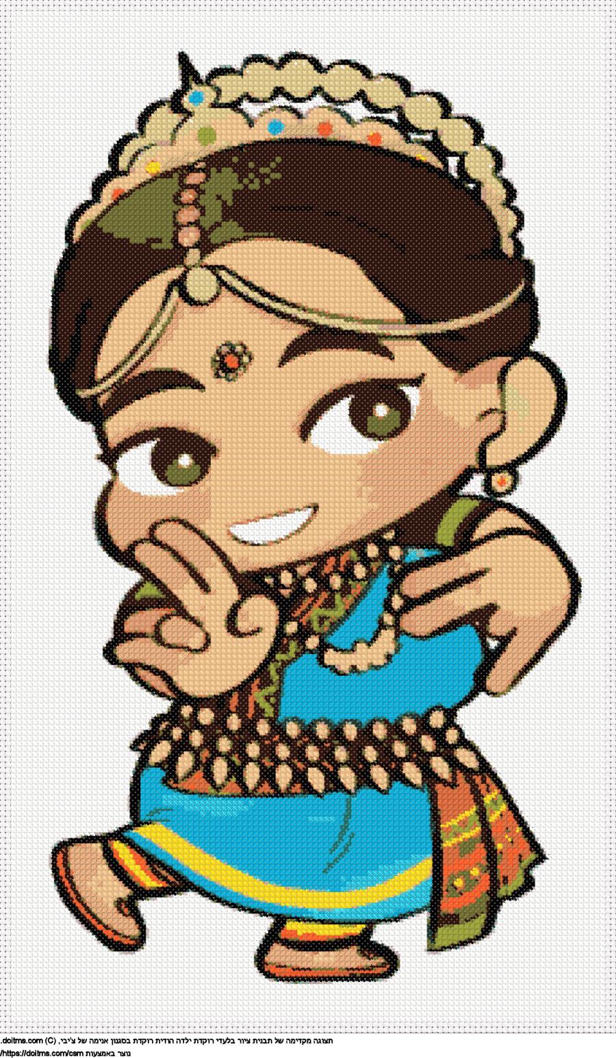נערת ריקודים הודית צ'יבי