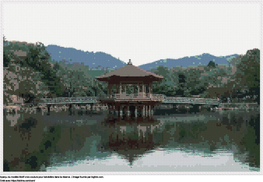 Motif de point de croix Japon gratuit