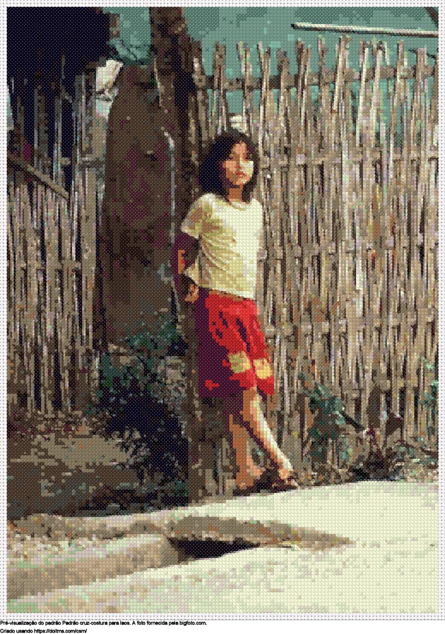 Desenhos Laos de ponto-cruz gratuitos