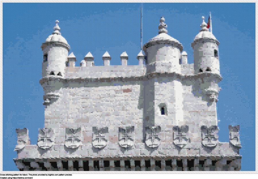 Free Lisbon cross-stitching design