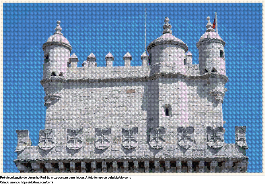 Desenhos Lisboa de ponto-cruz gratuitos