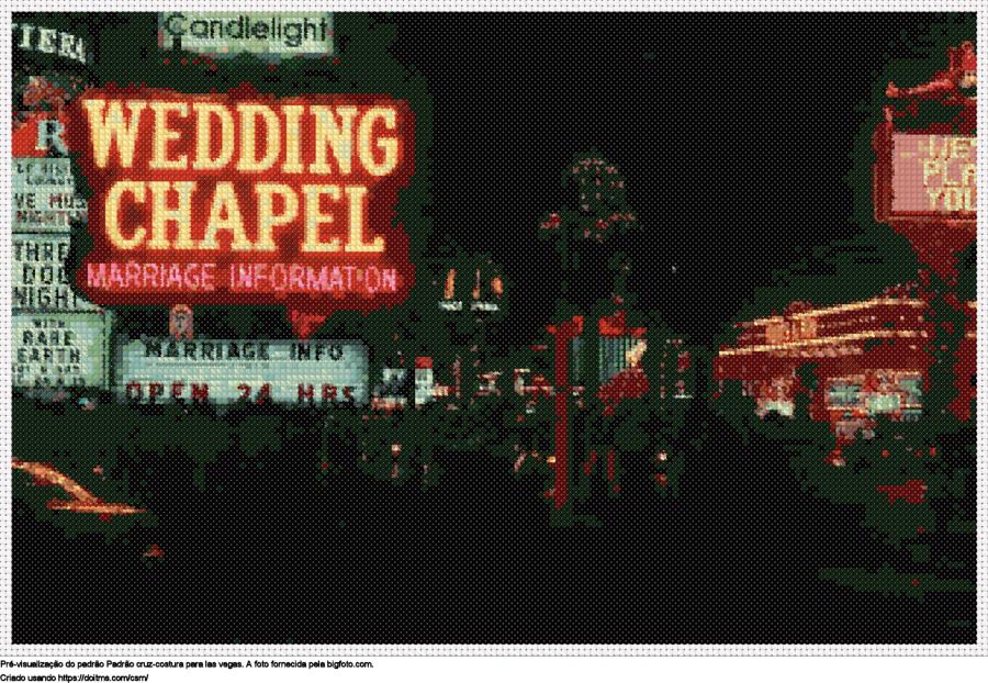 Desenhos Las Vegas de ponto-cruz gratuitos