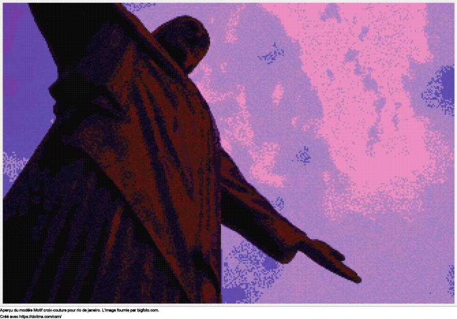 Motif de point de croix Rio de Janeiro gratuit