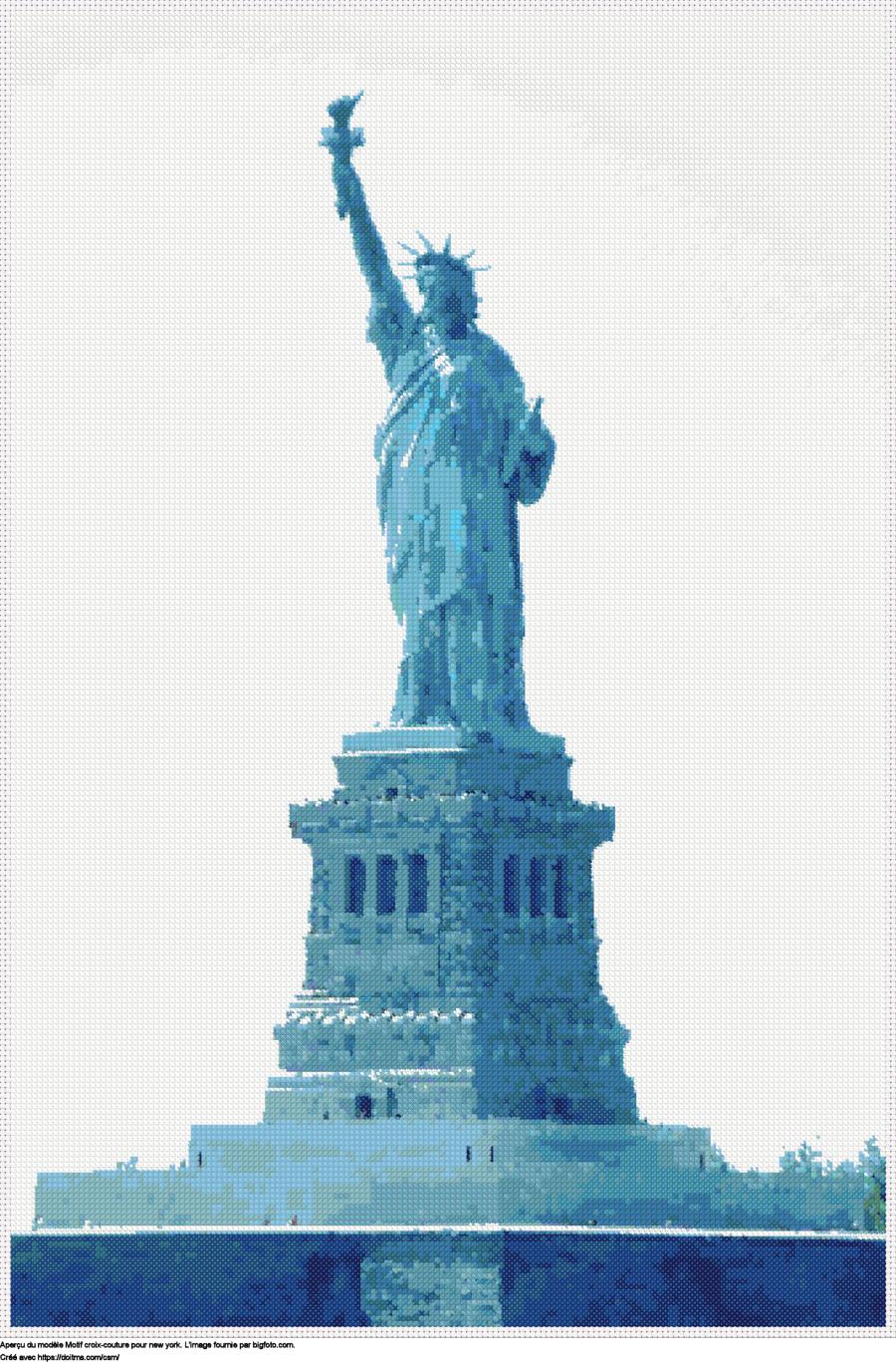 Motif de point de croix New York gratuit