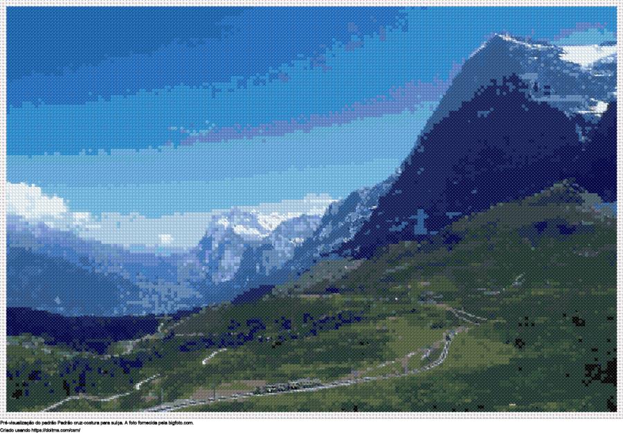 Desenhos Suíça de ponto-cruz gratuitos