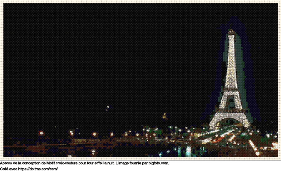 Motif de point de croix Paris gratuit
