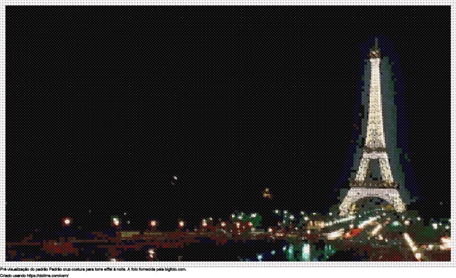 Desenhos Paris de ponto-cruz gratuitos